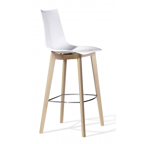 Natural Zebra Barstool