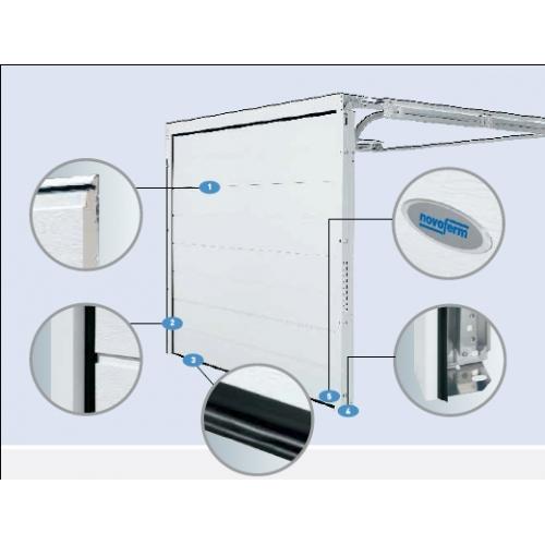 Секционни врати с термо-панел 45 мм